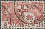 SG 289 ACSC 331g. 3½d Brown-Lake Centenary of Responsible Government variety single (AE1/319)